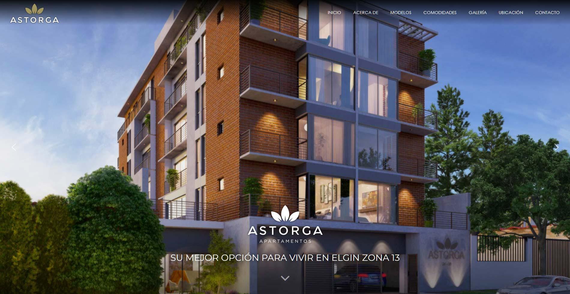 Header página web Apartamentos Astorga